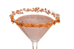 Macro gingerbread martini Royalty Free Stock Images