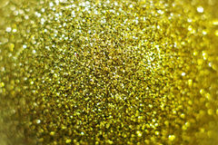 Macro of golden shiny christmas ball Royalty Free Stock Images
