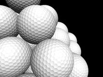 Macro Golf ball pyramid Stock Photo