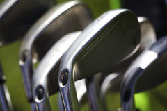 Macro of golf irons Royalty Free Stock Image