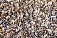 Macro grani del pepe Immagini Stock