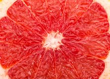 Macro of a grapefruit slice Royalty Free Stock Photos
