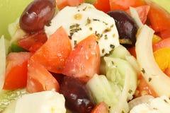 Macro greca dell'insalata immagini stock libere da diritti