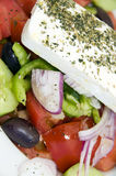 Macro greek salad Royalty Free Stock Images