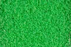 Work tool item isolated. Macro of green abrasive sponge work item isolated royalty free stock photos