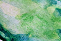 Macro Green with Blue Watercolour Textures 13 Royalty Free Stock Image