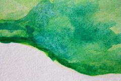 Macro Green with Blue Watercolour Textures 10 Royalty Free Stock Photography