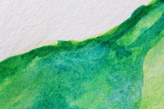 Macro Green with Blue Watercolour Textures 7 Stock Image