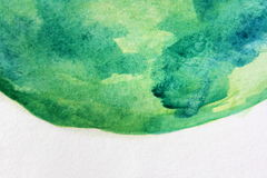 Macro Green with Blue Watercolour Textures 5 Royalty Free Stock Photography
