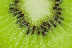 Macro green kiwi fruit Royalty Free Stock Photo