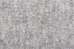 Macro of grey felt texture Royalty Free Stock Photography