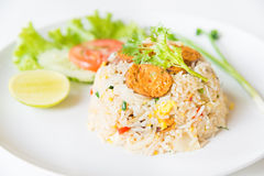 Macro Grill Northern Thai Sausage fried rice with egg Stock Photography