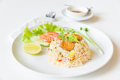 Macro Grill Northern Thai Sausage fried rice with egg Stock Photos