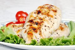 Macro grilled chicken shallow DOF Royalty Free Stock Photography