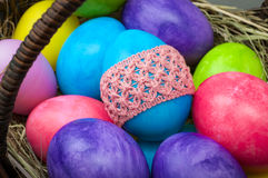 Macro group of easter eggs Stock Photography