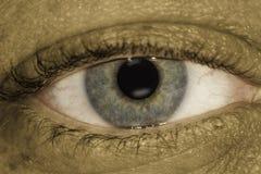Macro Grungy dell'occhio Fotografie Stock
