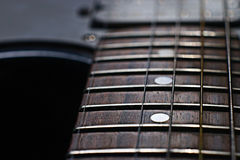 Macro guitar music grief music. Macro guitar music grief rock royalty free stock photos
