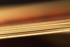 Macro of guitar string Stock Image