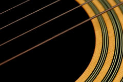 Macro Guitar Strings Stock Images