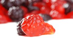 Macro gummy fruit candy Royalty Free Stock Photos