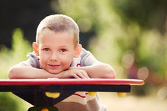 Macro Handsome Young Boy Looking at Camera stock images