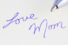 Love Mom Stock Photography