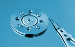 Macro of hard disk Stock Image