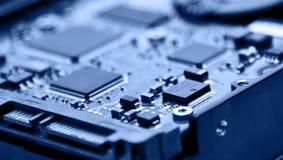 Macro hard drive Stock Photos