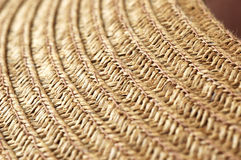 Macro of Hat Weave Texture. Close-up of brown hat weave pattern and texture Stock Photography
