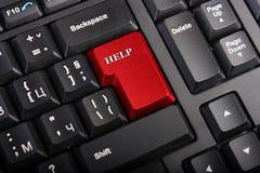 Macro Help key Stock Photos