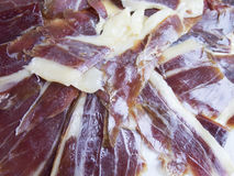 Macro iberico ham Stock Photo