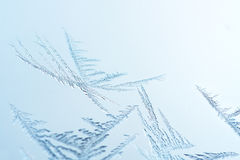 Macro ice crystals Royalty Free Stock Photos