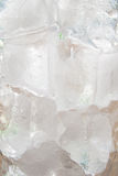 Macro of ice in a glass Royalty Free Stock Photos