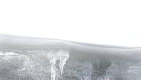 Macro of ice stalactites Stock Photos