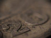 MACRO: Il Danese 20 corone scandinave Fotografie Stock Libere da Diritti
