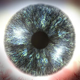Macro illustration 3D de globe oculaire Images libres de droits
