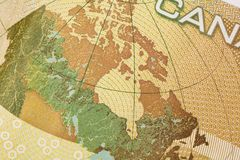 Macro image of canadian dollar Stock Photo