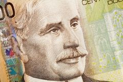 Macro image of canadian dollar Stock Image
