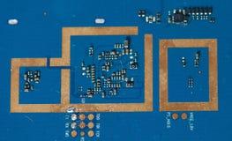 Macro image of circuit board. Chip, circuitry Royalty Free Stock Image