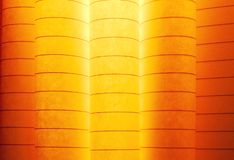 Macro image of colorful curved sheets of paper Royalty Free Stock Images