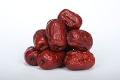 Macro image d'isolement des dates rouges chinoises Image stock