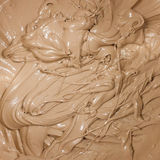 Macro image of a dark melted chocolate Stock Photos