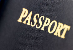 Macro image de nous passeport Photo stock