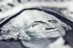 Macro image of a dollar bill Stock Image
