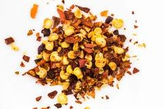 Macro Image of Flaked Chili Flakes Royalty Free Stock Images