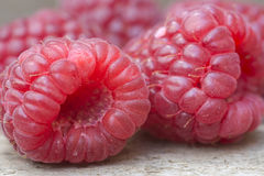 Macro image of fresh Summer raspberries Royalty Free Stock Image