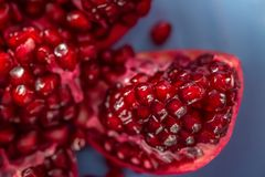 Macro image of fruit pomegranate. Soft focus. Healthy concept royalty free stock photo