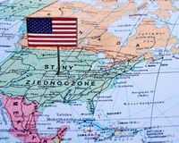 Macro image of a Map of America Royalty Free Stock Photo