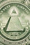 Macro image of one dollar bill Royalty Free Stock Photography