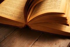Macro image of open book Royalty Free Stock Photo